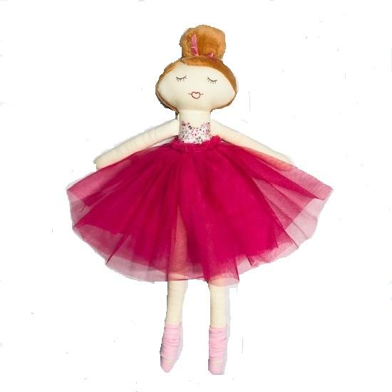 Dukke mørk rosa 1