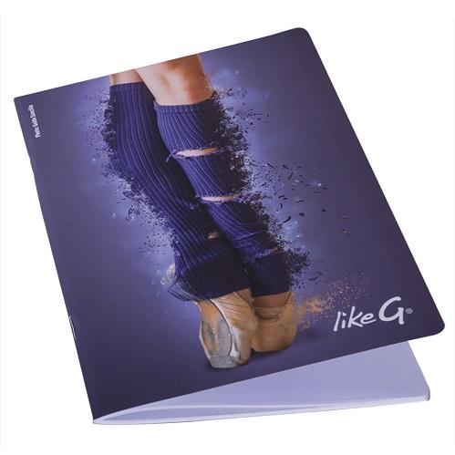 likeG A5 notatbok blå