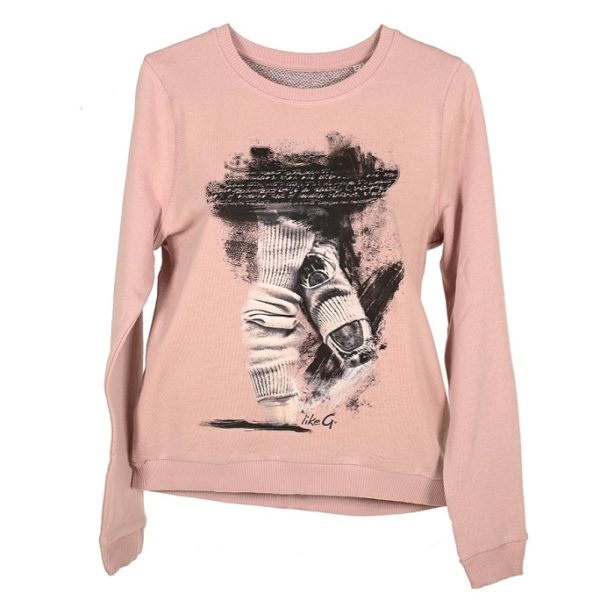 likeG Rosa sweater front